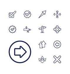 13 right icons vector