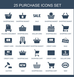 25 purchase icons vector