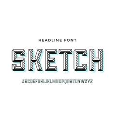 3d modern font colorful modern line alphabet vector