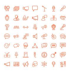 49 speech icons vector image