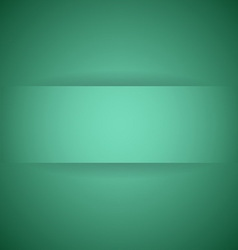 Abstract green paper with shadow background vector