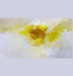 Abstract irregular polygon background grey yellow vector