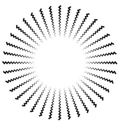 Abstract radiating lines element vector