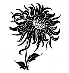 Black flower vector