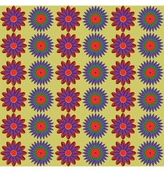 Blue Red Flowers Pattern vector