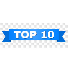 blue ribbon with top 10 title vector image