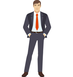 Businessman standing vector image