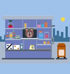 cartoon brown bear vector image