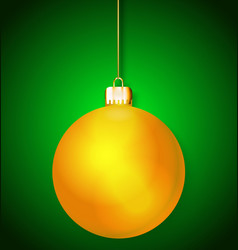 Christmas bauble vector image