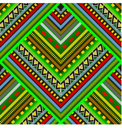 colorful striped tribal seamless pattern vector image