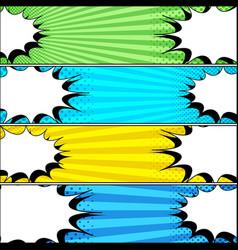 Comic duel horizontal banners vector