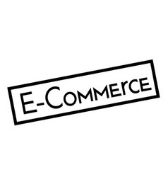 E-commerce stamp on white background vector