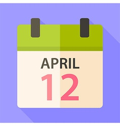 Easter calendar with date 12 april vector image