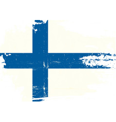 finnish scratched flag vector image