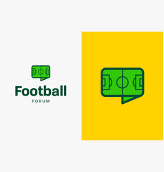 football-soccer-field-logo-icon vector image
