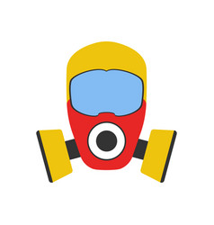 gas mask icon fire departament equipment icon vector image