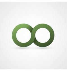 Green infinity sign vector