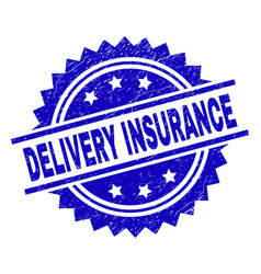 grunge textured delivery insurance stamp seal vector image