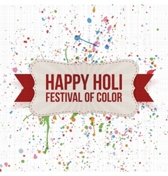 Happy Holi Festival of Color Label vector
