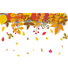 hello autumn discount season background with vector image