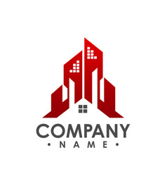 house logo real estate logo cottage farm vector image