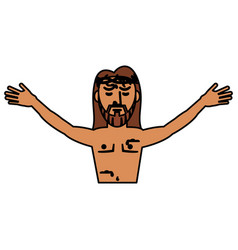 jesus christ belief catholic vector image
