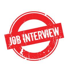 Job interview rubber stamp vector