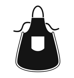 Kitchen apron icon simple style vector