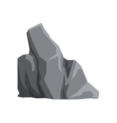 Large mountain stone gray rock with lights and vector
