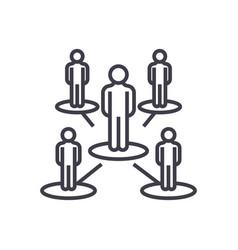 leadership networkmultilevel marketingmlm vector image