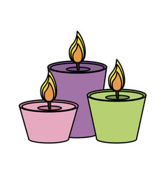 lit candles icon image vector image