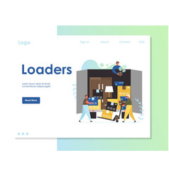 loaders website landing page design vector image
