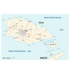 Map maltese islands gozo and comino vector