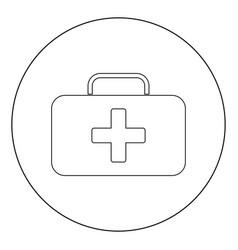 medical case icon black color in circle vector image