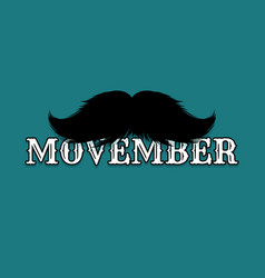 moustaches movember blog post template vector image