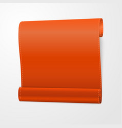 orange curved realistic paper scroll vector image