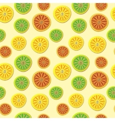 Orange lemon lime pattern Hand draw pattern vector