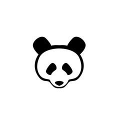 panda head black logo and symbols vector image