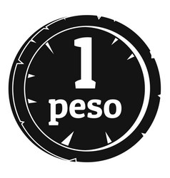 Peso icon simple style vector