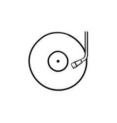 phonograph and turntable hand drawn outline doodle vector image