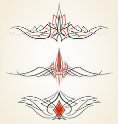 pinstriping ornaments set set vector image