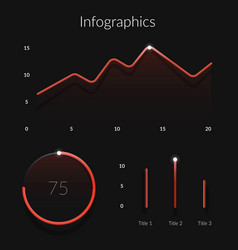 red gradient infographics elements template with vector image