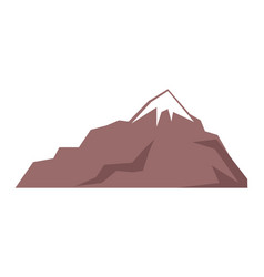 Rocky mountain isolated on white vector