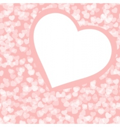 Romantic valentine background template vector