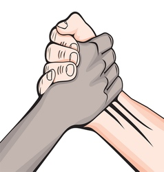 Rukovanje rasno vector image