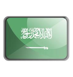 saudi arabia flag on white background vector image