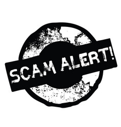 Scam alert stamp on white vector