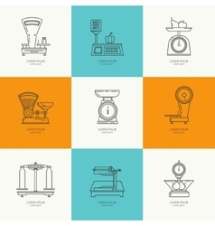 Set icons trade scales vector