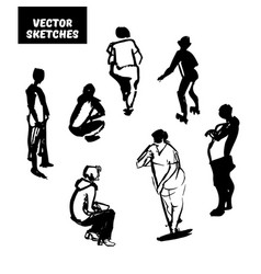 Set of sketches vector