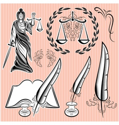 Set of templates design elements for law vector
